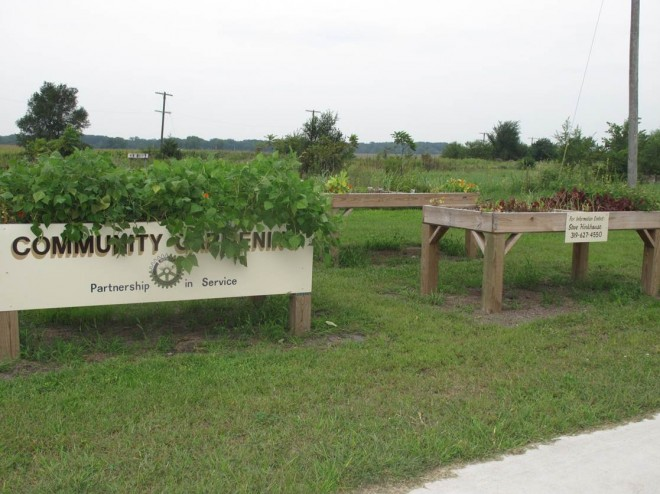 Rotary Community Garden in West Liberty
